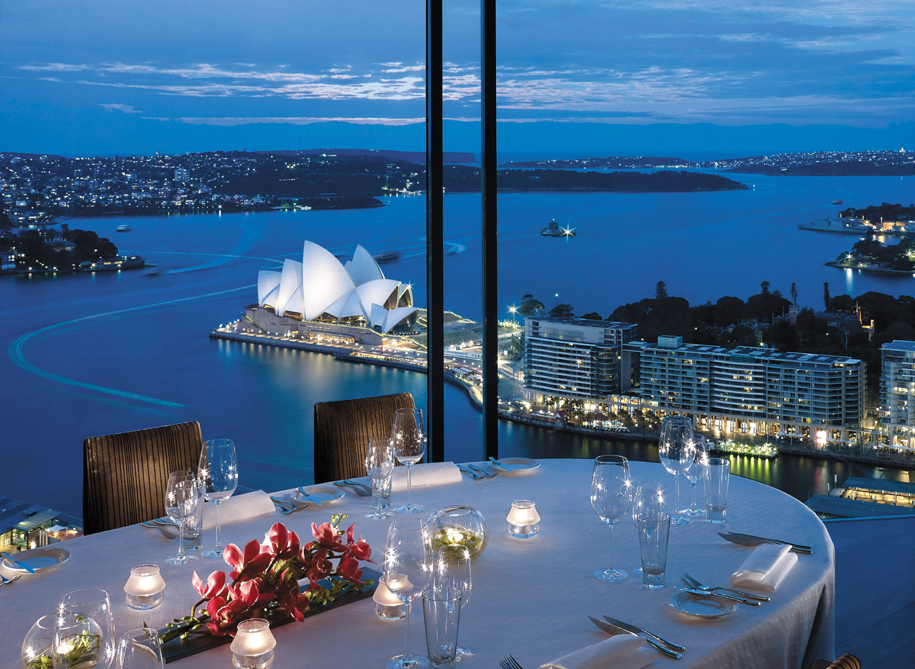 Luxurious skyline view from a premium Sydney hotel