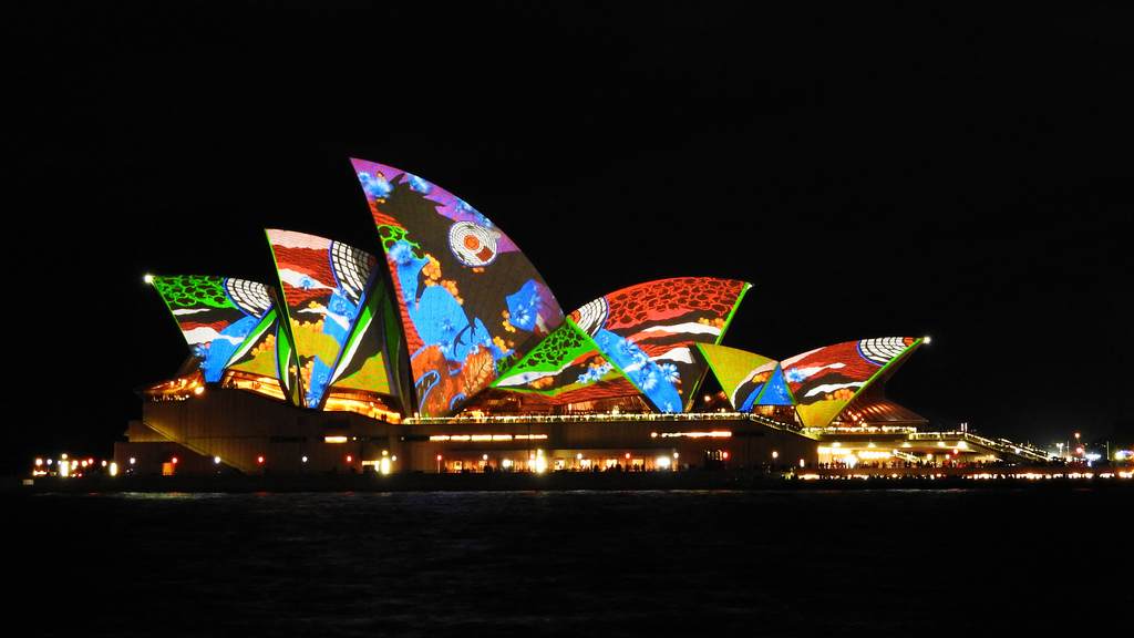 Outdoor Lighting Festival at Sydney Opera House