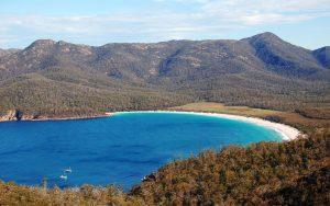 Wineglass Bay in Freycinet National Park, Tasmania