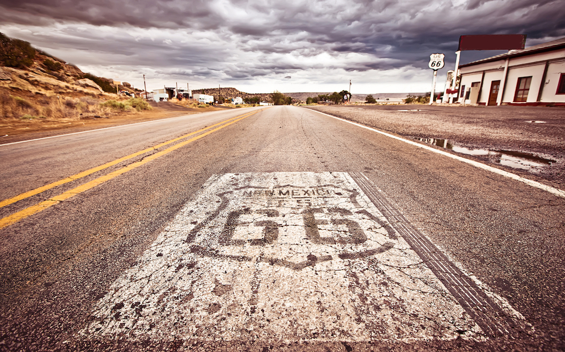 Route 66 in New Mexico USA