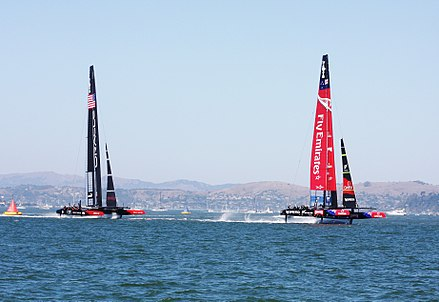 A taste of the 2013 America's Cup in Auckland.