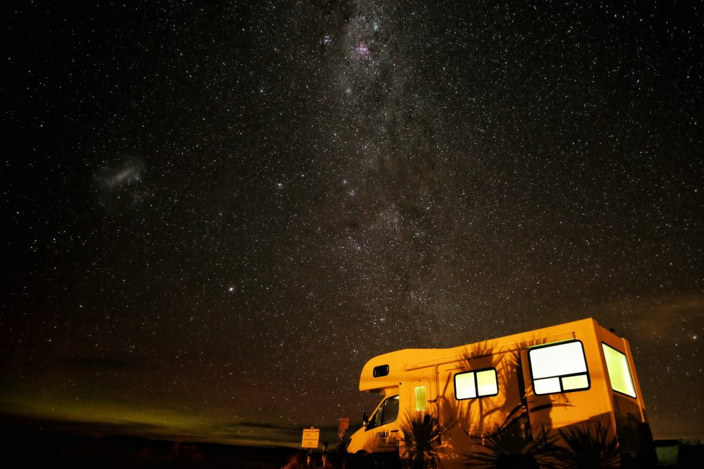 Campervan at night