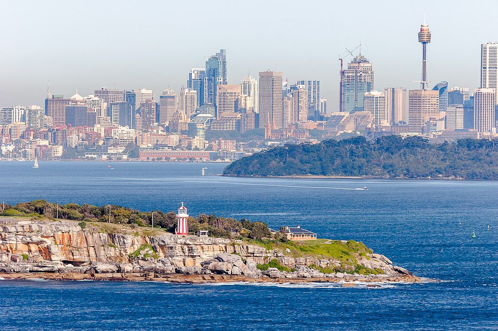 Landscape view of Sydney Harbour