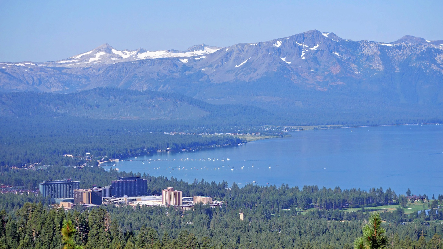 Southern view of Lake Tahoe in Nevada