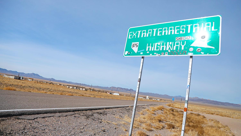 ET Highway sign Nevada