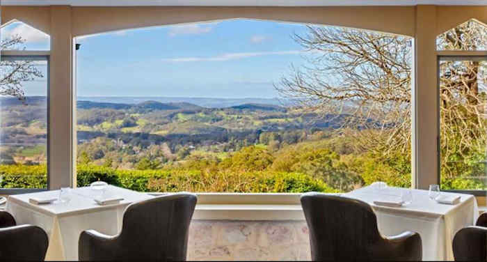 View over the Adelaide Hills from Harry's Verandah