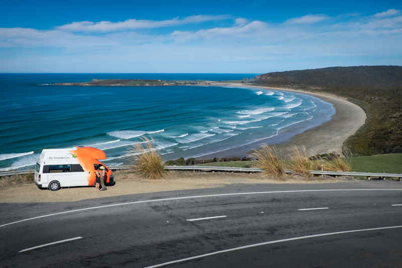 Australia Coast Road and Campervan