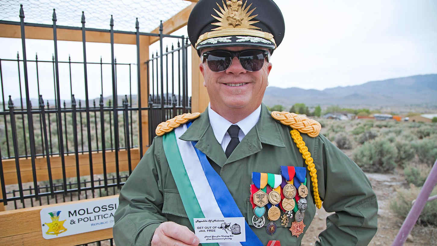 the self styled President of Molossia in Nevada