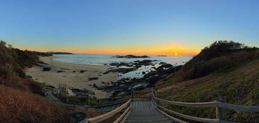 Sunrise in Sawtell, Coffs Coast NSW