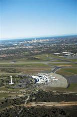 pick up your rental car at Perth Airport and head into the City