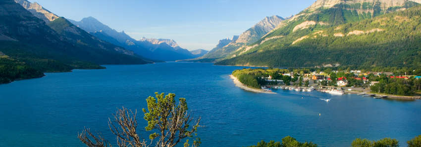 Lacs Waterton en Alberta
