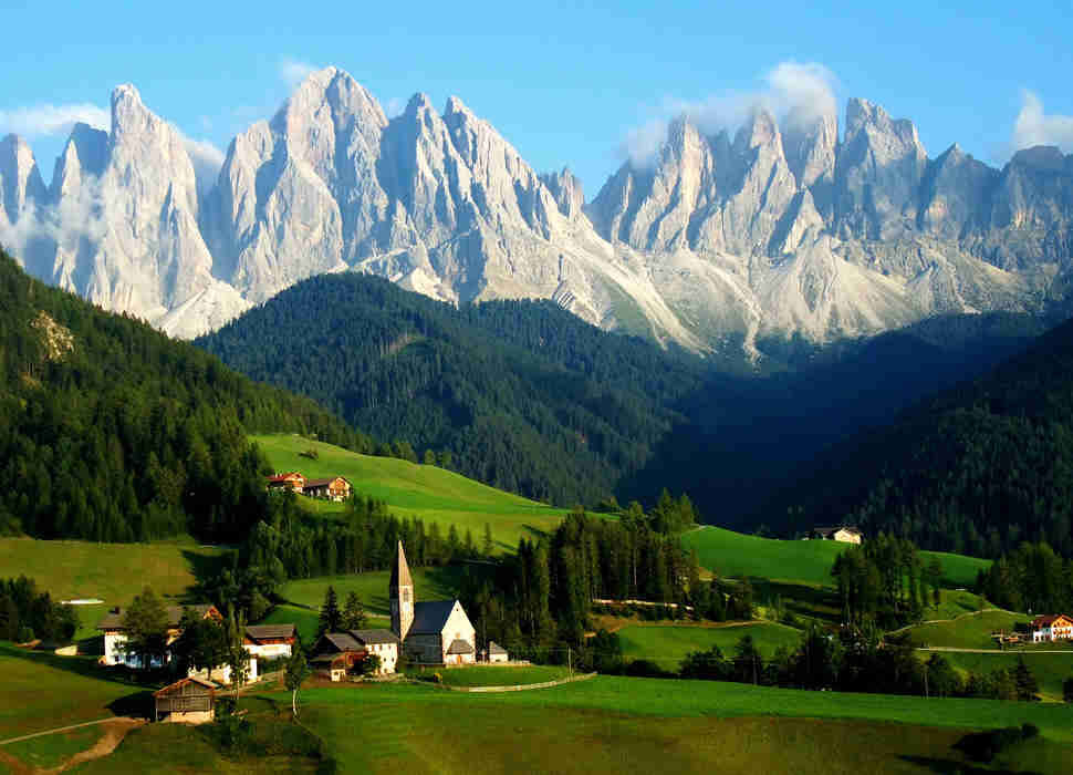 Santa Maddalenna in the Italian Alps.