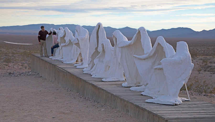 Ghosts of Goldwell on Nevada's Free Range Art highway