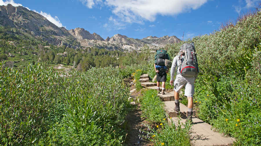 Trekking the Lamoille Canyone in north east Nevada