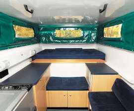 Enjoy an adventure in this innovative 4WD campervan.