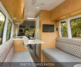 Dinette of Aquila RV from Star RV Campervan Hire