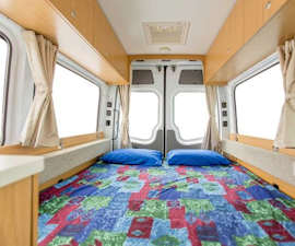 This deluxe campervan offers all the inclusions of a motorhome.