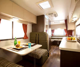 Spacious Campervan Dining from Star RV