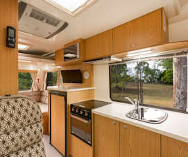 Kitchenette of Pandora RV from Star RV Campervan Hire