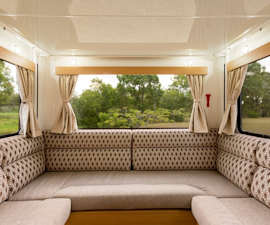 Living area inside Pandora RV from Star RV Campervan Hire