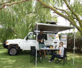 Safari Landcruiser Outside Tent