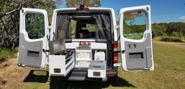 Inside Scout 4WD from Britz Campervan Hire Australia
