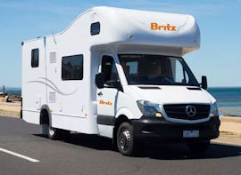 Britz Traveller Campervan hire in Australia