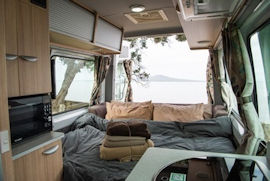 Venturer Plus interior from Britz Campervan Hire Australia