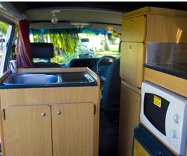 Mini Kitchen of Family Campervan from Camperman Australia