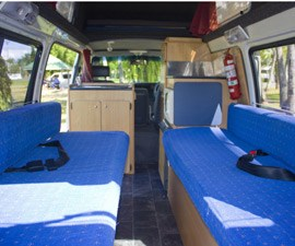 Spacious seats of Family Campervan from Camperman Australia