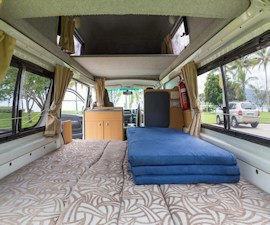 Spacious Bed in Juliette from Camperman Australia