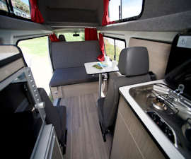 The 4 berth Campervan is superbly equipped.