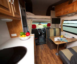 Dining in Seeker from Cruisin Motorhomes