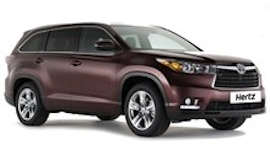 Firefly Toyota Kluger SUV Car Hire