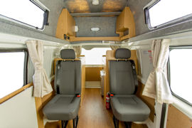 Cozy seats of Endeavour Campervan from Hippie Campers