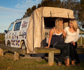 The Hippie Camper vans are equipped with everything the stylish traveller needs.