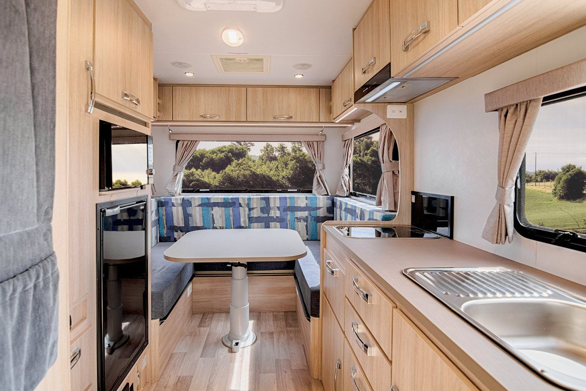 Letsgo 3 Berth Cruiser Motorhome Living Area
