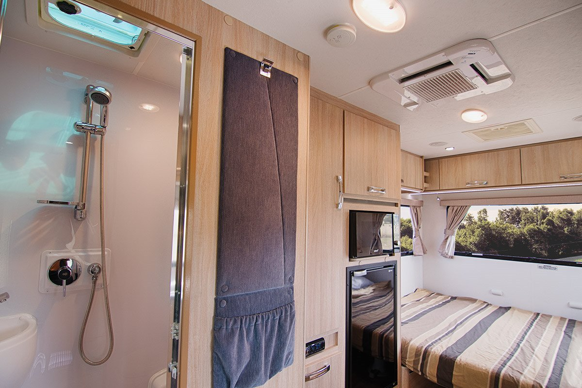 Letsgo 3 Berth Cruiser Motorhome Bedroom