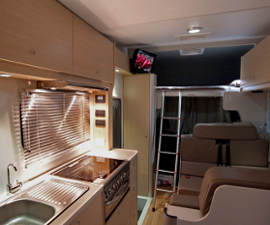 River Campervan interior from Maui Elite Motorhomes