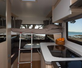 Maui Cascade Motorhome - Kitchen and Bunk View