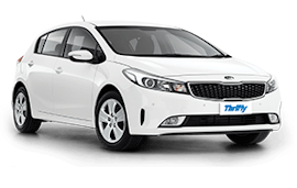 Thrifty Kia Cerato Hatch Car Rental with Manual Transmission
